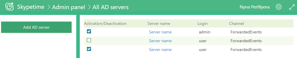 admin panel servers ad